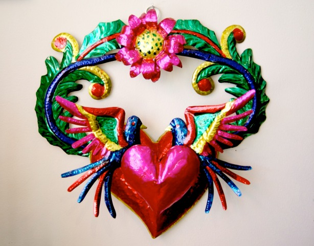 Mexican Folk Art Tin Wall Ornament, Christmas