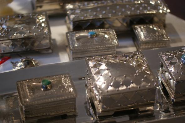 German silver boxes