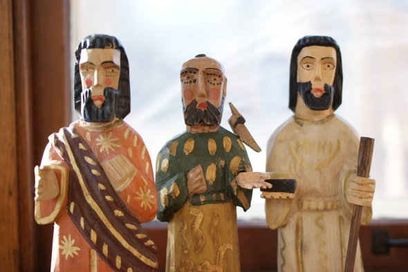 Handcarved saints from Guatemala