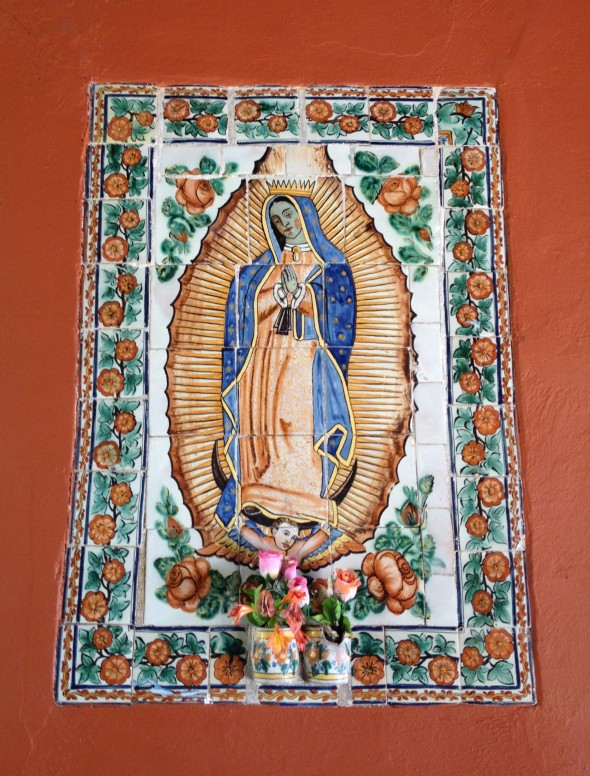 On the Street with the Virgin of Guadalupe