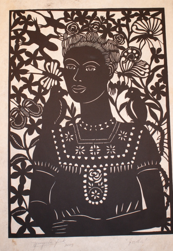 Frida Kahlo Paper Cutout