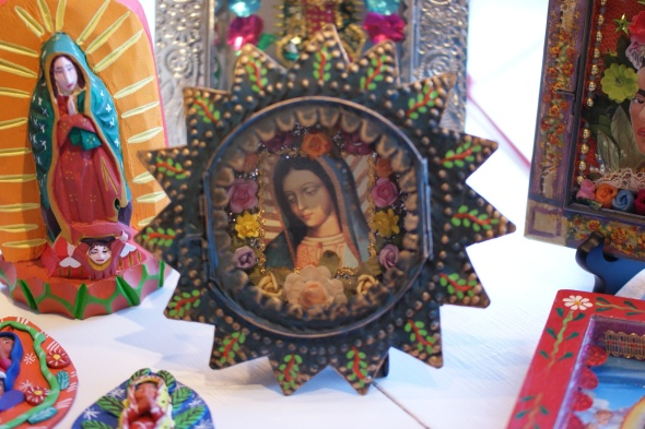 Mexican Virgin of Guadalupe nicho box