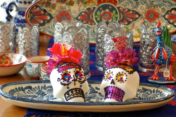 Mexican Sugar skulls for Day of the Dead