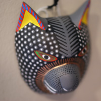 Tiny Oaxacan carved mask