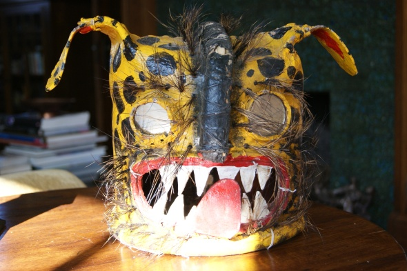 Leather Tigre Mask from Mexico