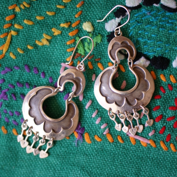 .925 Mexican Silver Earrings