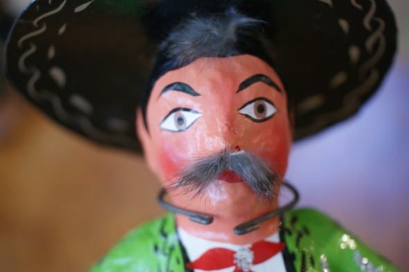 Smiling Charro folk art