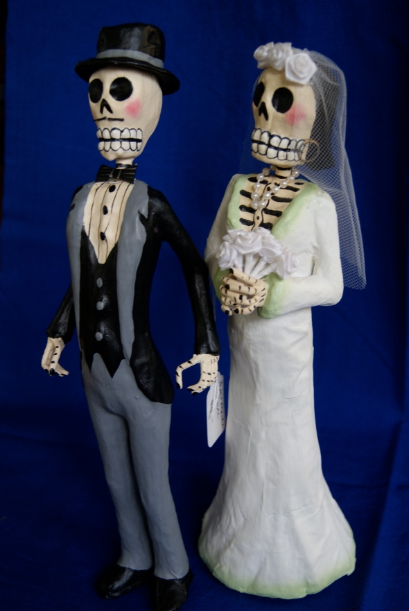 Mexican folk art skeletons
