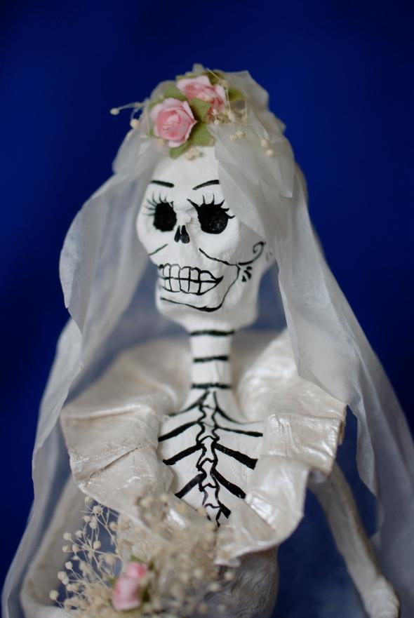 Mexican calavera bride, paper mache