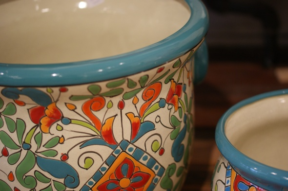 Handmade Ceramic Flower Pots from Mexico