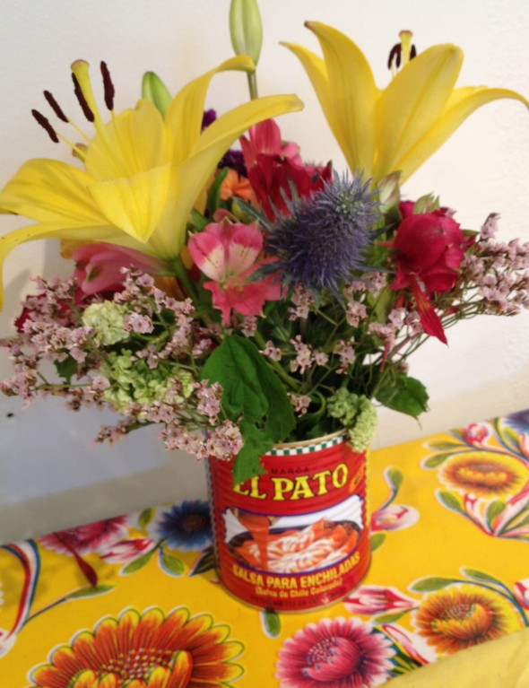 El Pato Enchilada Can as Vase