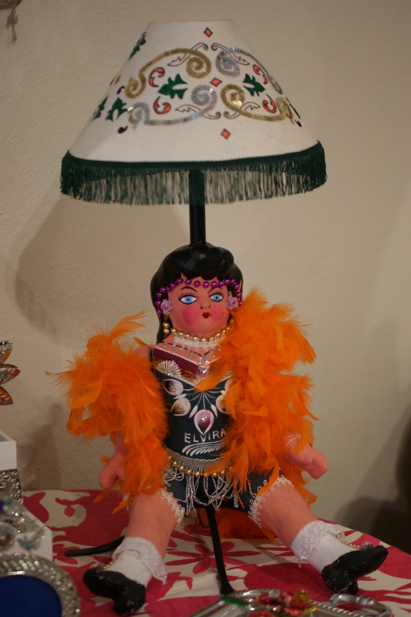 Mexican Folk Art Lamp made from Doll