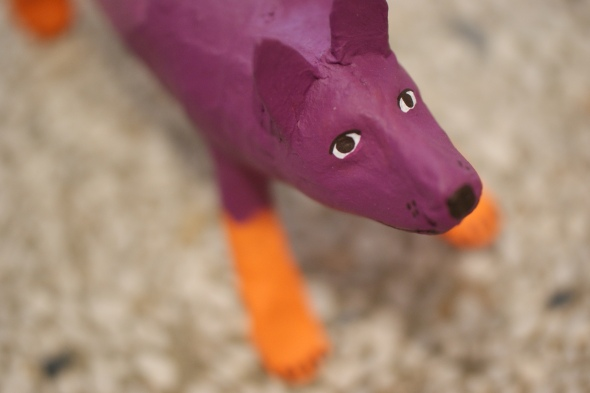 Dog made of Paper Mache