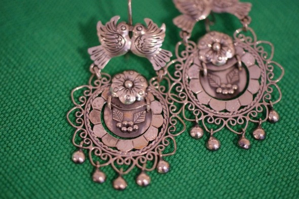 mexican earrings traditional mexican jewelry zinnia folk arts 2158