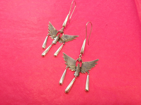 Mexican silver jewelry, Earrings from Mexico