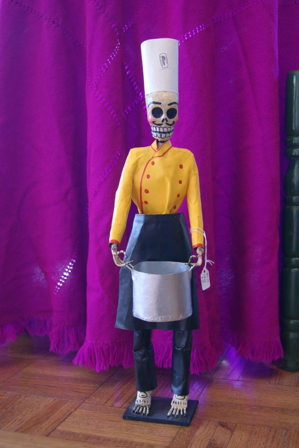 Paper mache day of the dead figures