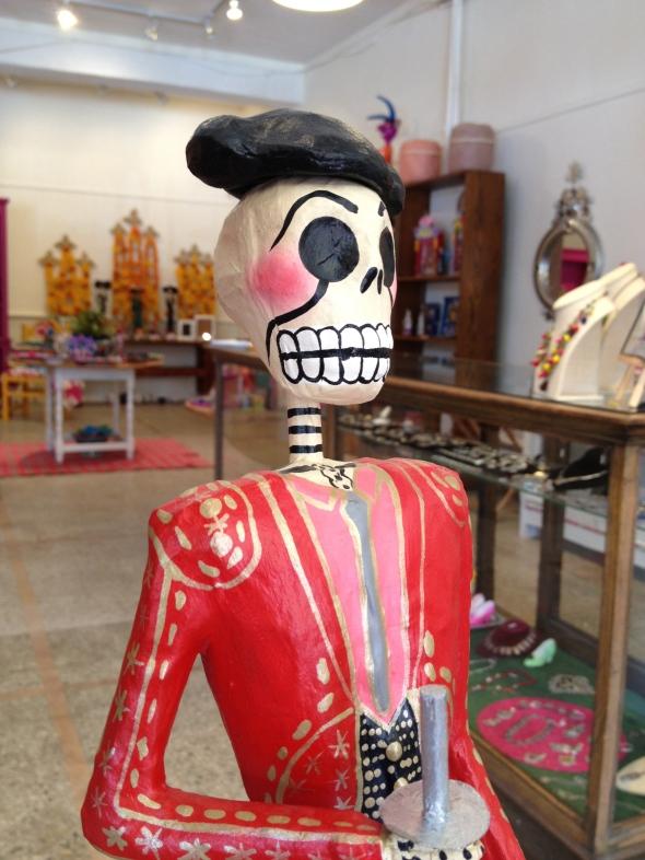 Paper Mache Matador Skeleton