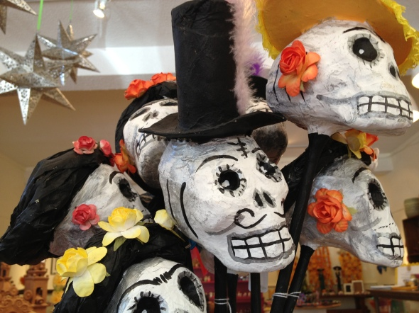 Paper Mache maracas for Day of the Dead