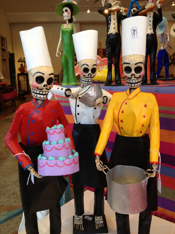 Paper Mache Chefs for Day of the Dead