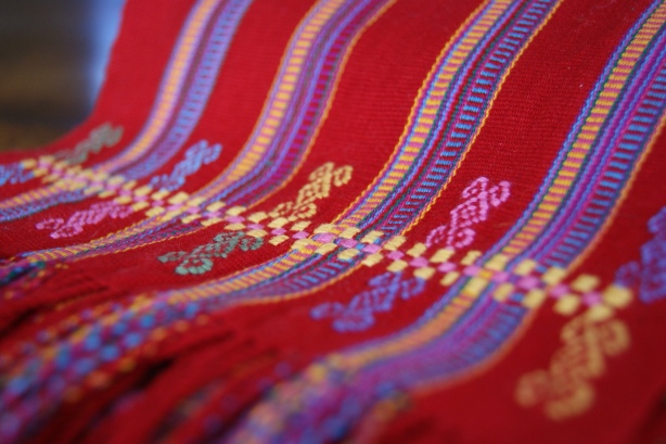 Red textiles from Mexico