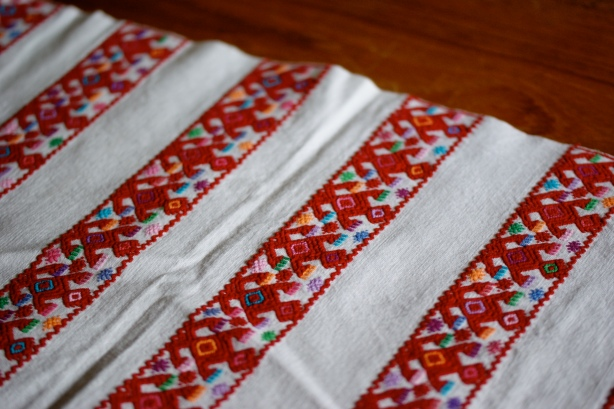 Red Holiday Textiles from Mexico