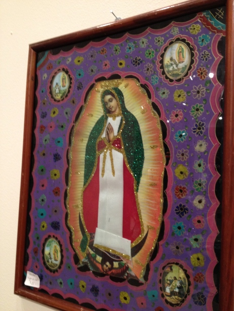 Reverse Glass Paintiing of the Virgen de Guadalupe