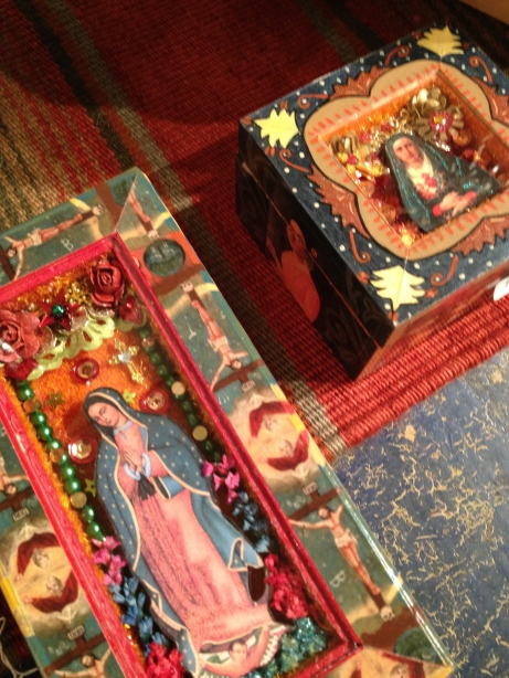 Decorative Boxes with Virgin of Guadalupe