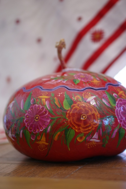 Red Lacquered Gourd, Guerrero, Mexico