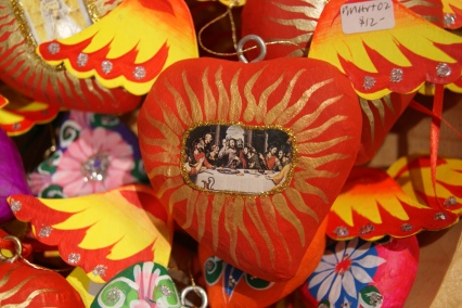 Mexican folk art, Paper Mache hearts