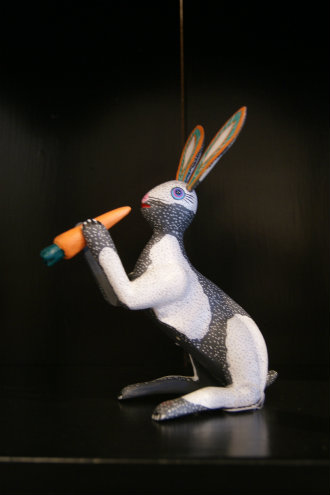 Wood Carved Rabbit from Oaxaca