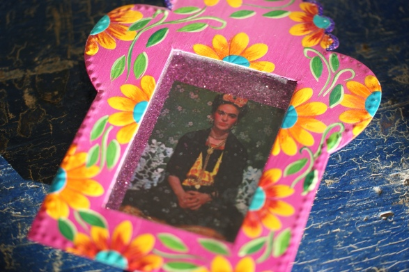 Flower Covered Frida Kahlo Nicho Box