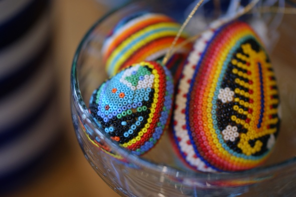 Beaded Huichol Mexican Folk Art Egg