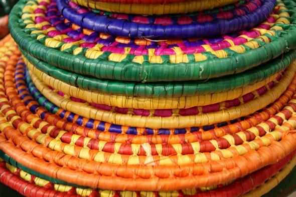 Woven Palma Trivets or Portocalientes, Zinnia Folk Arts