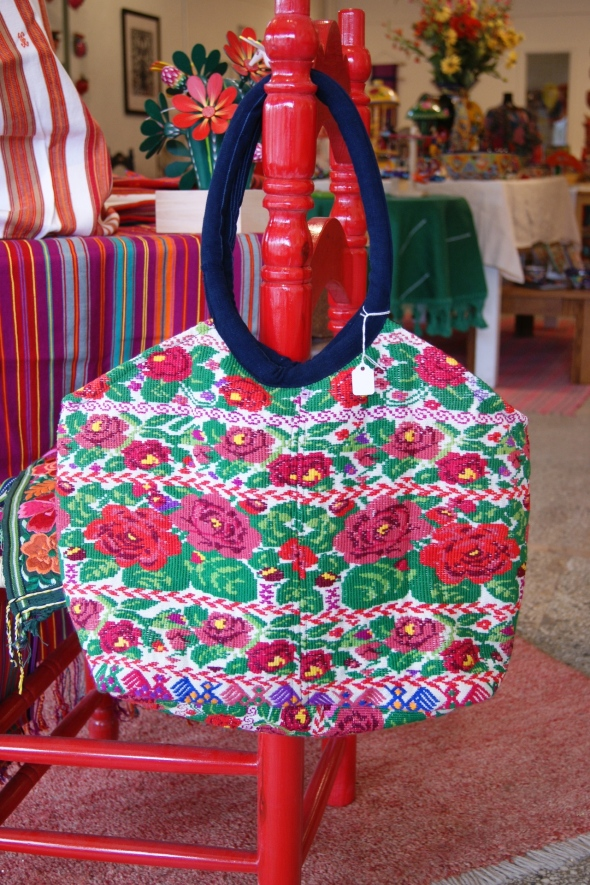 Rose Covered Bag from Chiapas