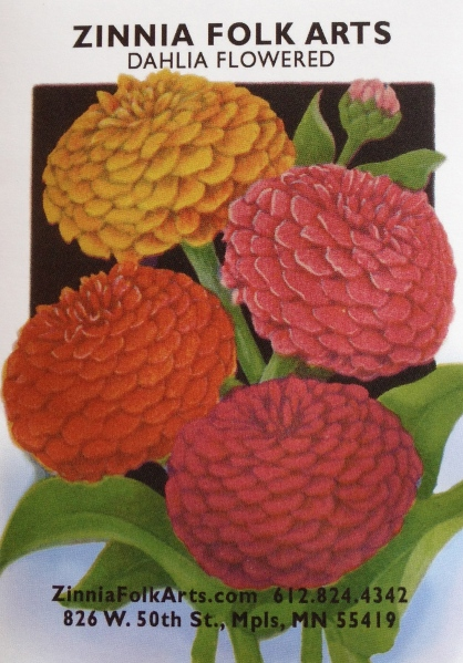 Zinnia Folk Arts Seeds