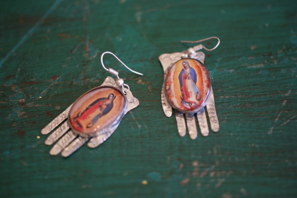Guadalupe EArrings, Zinnia Folk Arts