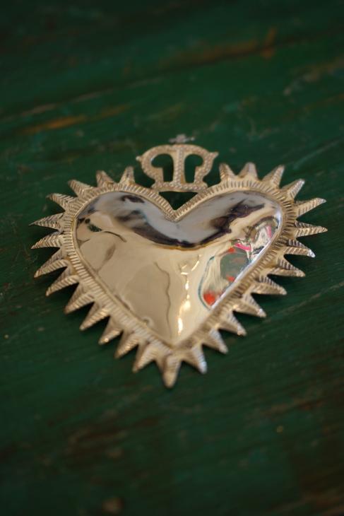 Alpaca Sacred Heart, Mexican Folk Art