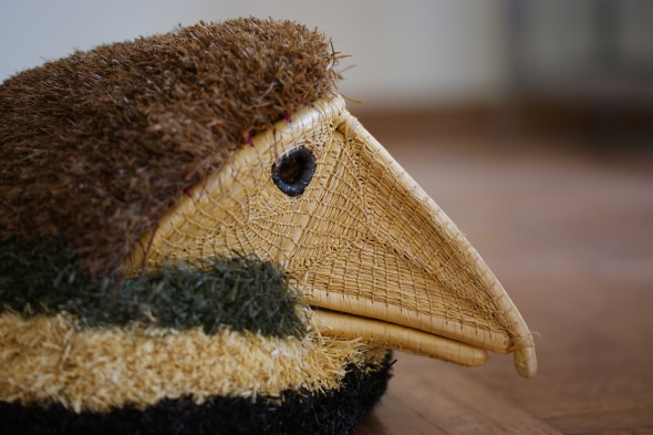 Woven bird mask, Mexico